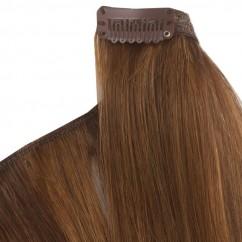 Естествена коса на клипс - екстеншън - удължаване без увреждане 55 см - цвят по избор